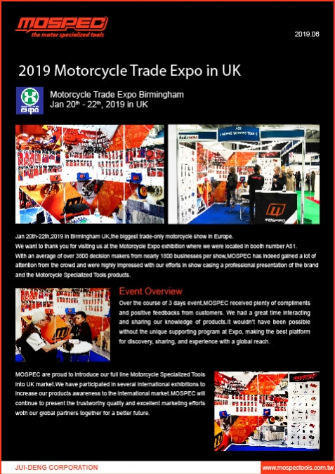 2019 Motorcycle Trade Expo in UK
